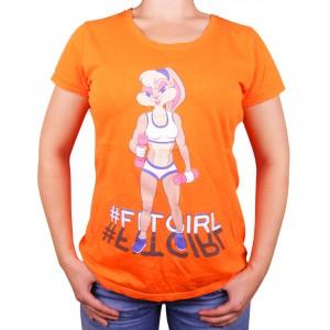 Muscle Rabbit   Женская футболка с принтом Лола Банни #FitGirl