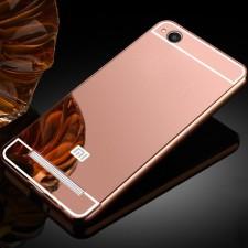 Металлический бампер для Xiaomi Redmi 4a с зеркальной вставкой