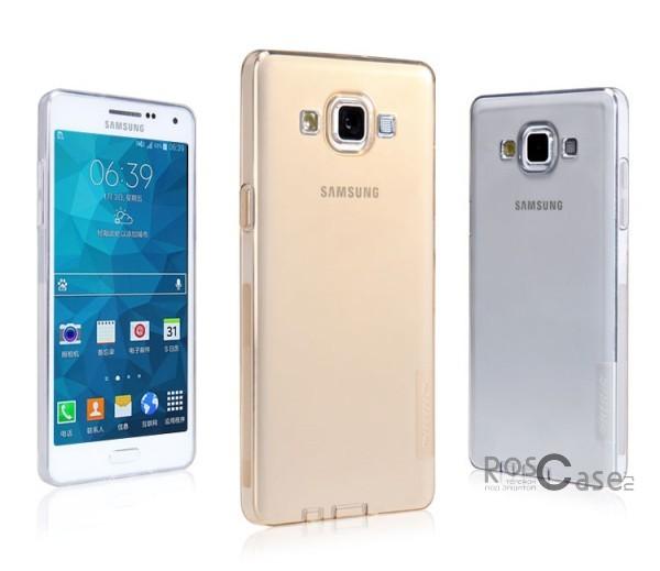 TPU чехол Nillkin Nature Series для Samsung A500H / A500F Galaxy A5Описание:производитель  -  бренд&amp;nbsp;Nillkin;совместим с Samsung A500H / A500F Galaxy A5;материал  -  термополиуретан;тип  -  накладка.&amp;nbsp;Особенности:в наличии все вырезы;заглушки для разъемов: зарядное устройство, наушники;не скользит в руках;тонкий дизайн;защита от ударов и царапин;прозрачный.<br><br>Тип: Чехол<br>Бренд: Nillkin<br>Материал: TPU