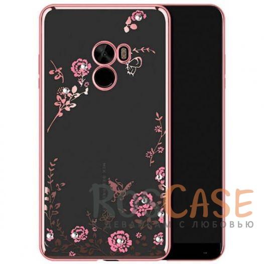 Прозрачный чехол с цветами и стразами для Xiaomi Mi MIX с глянцевым бампером (Розовый золотой/Розовые цветы)Описание:совместим с Xiaomi Mi MIX;глянцевая окантовка, цветочный узор;материал - TPU;тип - накладка.<br><br>Тип: Чехол<br>Бренд: Epik<br>Материал: TPU