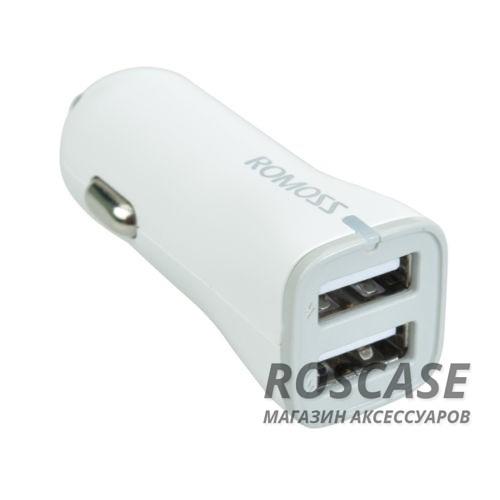 АЗУ ROMOSS 2 USB (2.1A + 1.0 А) (AU17-101)Описание:производитель&amp;nbsp; - &amp;nbsp;Romoss;выполнен из пластика и ABS;тип&amp;nbsp; - &amp;nbsp;АЗУ;совместимость - универсальная.Особенности:разъем - USB 2.0;заряд аккумулятора гаджета от прикуривателя;вход - DC 12-24V 2.4A (MAX);выход - DC 5V/2.1A, DC 5V/1A;2 USB;кабель в комплекте;размеры -&amp;nbsp;2,2*2*6 см;вес - 15,7 г.<br><br>Тип: Автозарядка<br>Бренд: ROMOSS