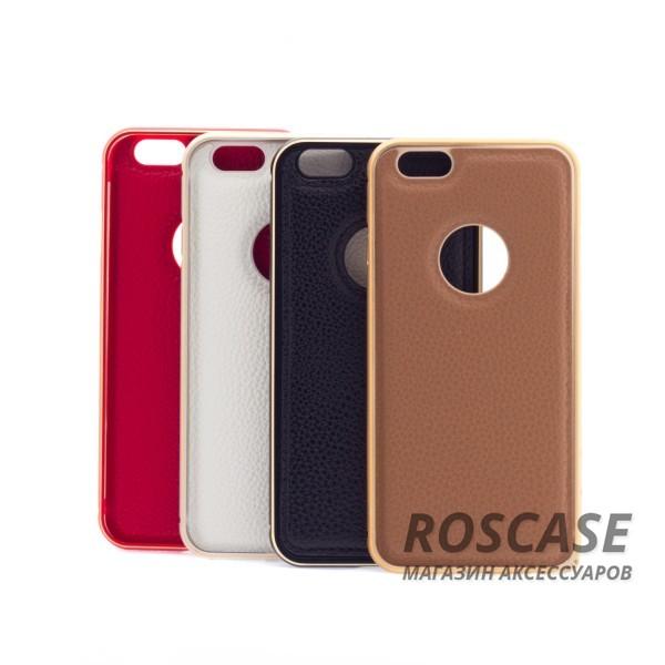 Металлический бампер с кожаной вставкой для Apple iPhone 6/6s (4.7)Описание:совместимость: Apple iPhone 6/6s (4.7);форм-фактор: накладка;материал: металл, искусственная кожа.Преимущества:эргономичный;легко устанавливается и снимается;устойчивый к повреждениям;не скользит в руках;элегантный дизайн.<br><br>Тип: Чехол<br>Бренд: Epik<br>Материал: Металл