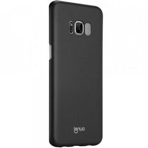 Тонкий чехол-накладка Lenuo из экокожи с защитными бортиками для Samsung G955 Galaxy S8 Plus