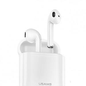 USAMS LC Series F-10 | Беспроводные наушники Bluetooth с кейсом подзарядкой (Док-станция) для Samsung Galaxy J7 2015 (J700F)