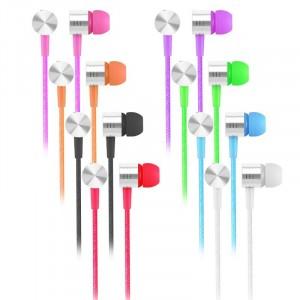 Headset EF-E4 | Вакуумные наушники с плетеным кабелем и микрофоном