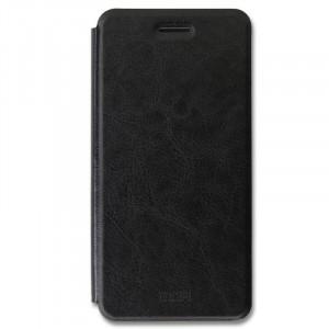 Классический кожаный чехол-книжка с металлической вставкой в обложке и функцией подставки для Nokia 7