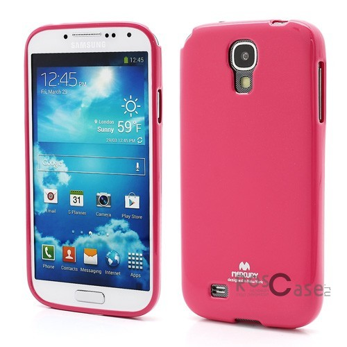 фото Малиновый TPU чехол Mercury Jelly Color series для Samsung i9500 Galaxy S4