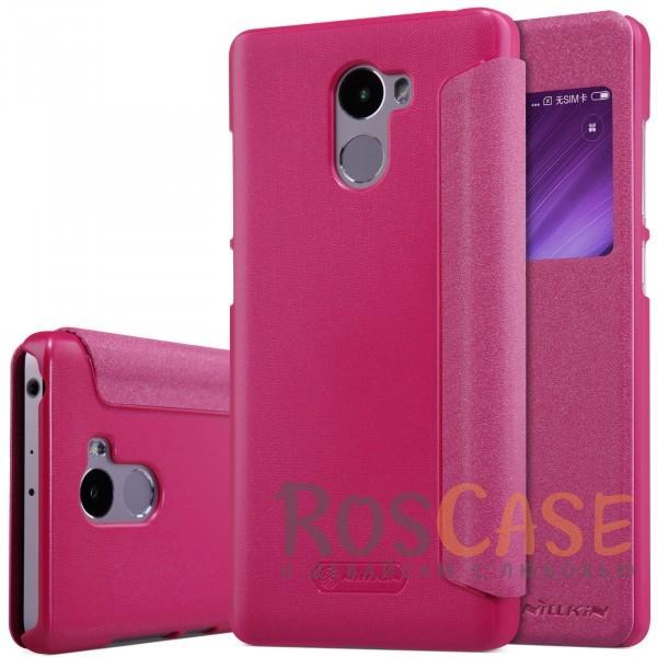 Кожаный чехол (книжка) Nillkin Sparkle Series для Xiaomi Redmi 4 (Розовый)Описание:от компании&amp;nbsp;Nillkin;совместим с Xiaomi Redmi 4;материалы: поликарбонат, искусственная кожа;тип: чехол-книжка.<br><br>Тип: Чехол<br>Бренд: Nillkin<br>Материал: Искусственная кожа