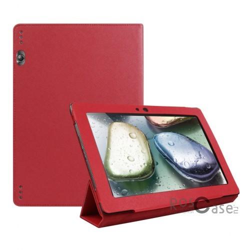 Кожаный чехол-книжка TTX с функцией подставки для Lenovo IdeaTab 10.1 S6000/S6000L (Малиновый)Описание:производитель  -  TTX;разработан специально для Lenovo IdeaTab 10.1 S6000/S6000L;материалы  - кожзам, микрофибра;форма  -  чехол-книжка.&amp;nbsp;Особенности:трансформируется в подставку;имеет все функциональные отверстия;легко устанавливается и снимается;тонкий и легкий;защищает от царапин и ударов;устойчив к низким температурам.<br><br>Тип: Чехол<br>Бренд: TTX<br>Материал: Искусственная кожа