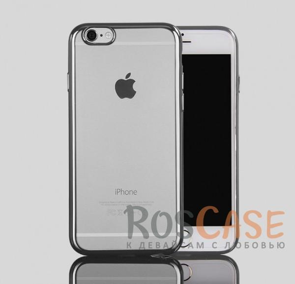 Прозрачный силиконовый чехол для Apple iPhone 7 (4.7) с глянцевой окантовкой (Серебряный)Описание:материал - силикон;совместим с Apple iPhone 7 (4.7);тип - накладка.Особенности:прозрачный;глянцевая окантовка;все вырезы предусмотрены;защищает от царапин и потертостей;тонкий дизайн;плотно облегает корпус.<br><br>Тип: Чехол<br>Бренд: Epik<br>Материал: TPU