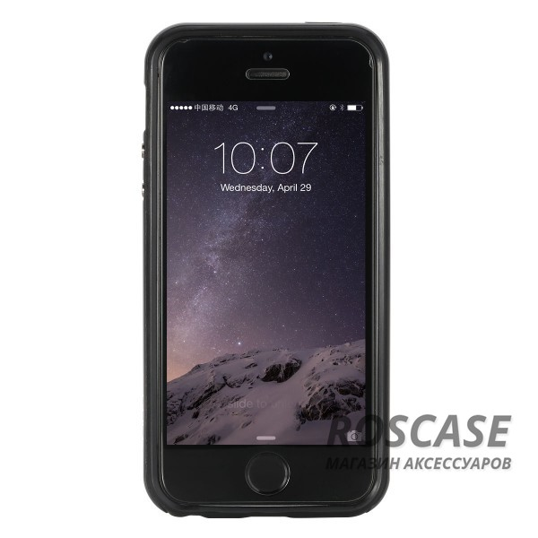 Изображение Черный / Синий TPU+PC чехол Rock Royce Cross Series для Apple iPhone 5/5S/SE
