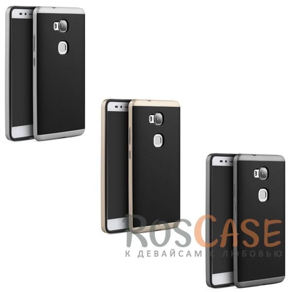 Чехол iPaky TPU+PC для Huawei Honor 5X / GR5Описание:производитель - iPaky;совместим с Huawei Honor 5X / GR5;материал: термополиуретан, поликарбонат;форма: накладка на заднюю панель.Особенности:эластичный;рельефная поверхность;прочная окантовка;ультратонкий;защита экрана и камеры благодаря выступающим краям;надежная фиксация.<br><br>Тип: Чехол<br>Бренд: Epik<br>Материал: TPU