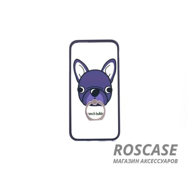 Чехол-подставка с кольцом Fancy animals для Apple iPhone 6/6s (4.7) (Черная собака)Описание:разработан для Apple iPhone 6/6s (4.7);материал: пластик;форма: накладка с кольцом.&amp;nbsp;Особенности:кольцо-подставка;функциональные вырезы;оригинальный дизайн;защита от ударов и царапин;не скользит в руках.<br><br>Тип: Чехол<br>Бренд: Epik<br>Материал: Пластик