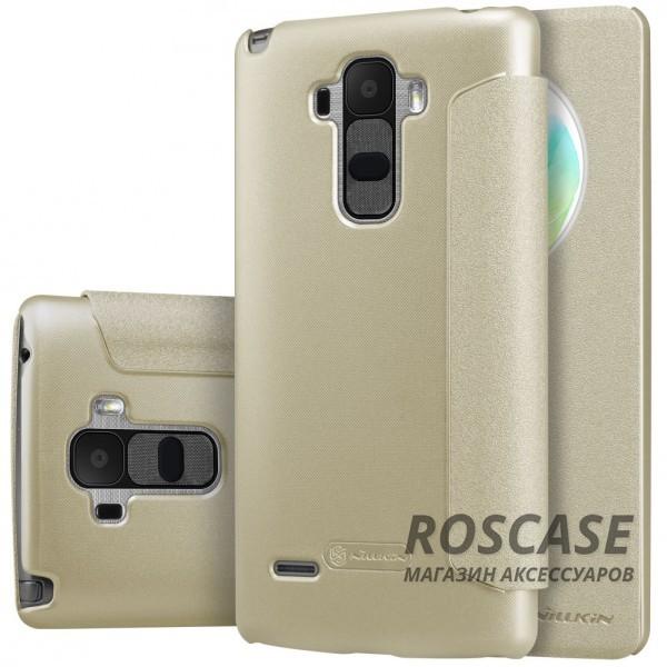 Кожаный чехол (книжка) Nillkin Sparkle Series для LG H540F G4 Stylus Dual (Золотой)Описание:бренд - Nillkin;совместим с&amp;nbsp;LG H540F G4 Stylus Dual;материал - кожзам;тип: книжка.&amp;nbsp;Особенности:функция Sleep mode;окошко в обложке;блестящая поверхность;защита со всех сторон.<br><br>Тип: Чехол<br>Бренд: Nillkin<br>Материал: Натуральная кожа