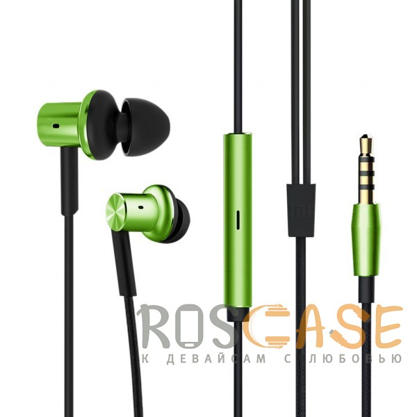 Фотография Зеленый Xiaomi PISTON 5 (реплика) | Вакуумные наушники с пультом управления и микрофоном