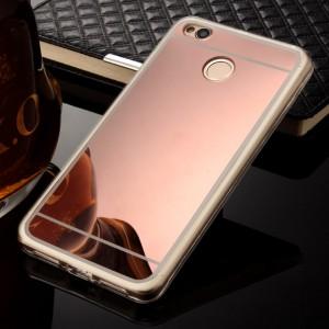 Силиконовый чехол для Xiaomi Redmi 4X с зеркальной вставкой