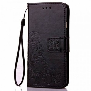 Кожаный чехол (книжка) Four-leaf Clover с визитницей для Samsung Galaxy A70 (A705F)