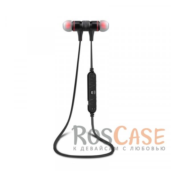 Фото Беспроводные Bluetooth наушники Awei A920BL с микрофоном на пульте управления и плоским кабелем