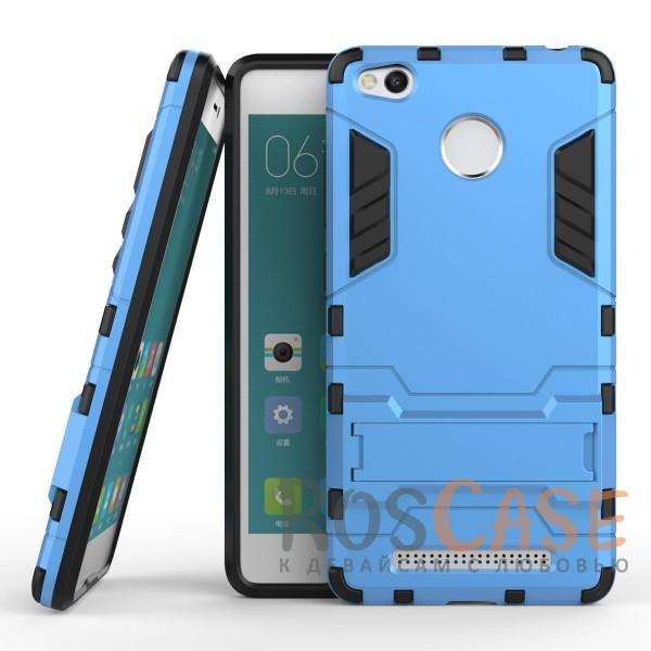 Ударопрочный чехол-подставка Transformer для Xiaomi Redmi 3 Pro / Redmi 3s с мощной защитой корпуса (Синий / Navy)Описание:подходит для Xiaomi Redmi 3 Pro / Redmi 3s;материалы: термополиуретан, поликарбонат;формат: накладка.&amp;nbsp;Особенности:функциональные вырезы;функция подставки;двойная степень защиты;защита от механических повреждений;не скользит в руках.<br><br>Тип: Чехол<br>Бренд: Epik<br>Материал: TPU
