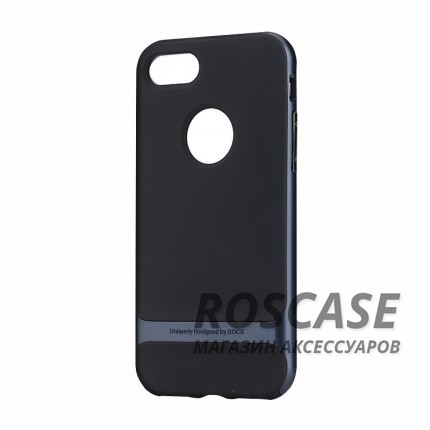 фото Черный / Синий TPU+PC чехол Rock Royce Series для Apple iPhone 7 (4.7