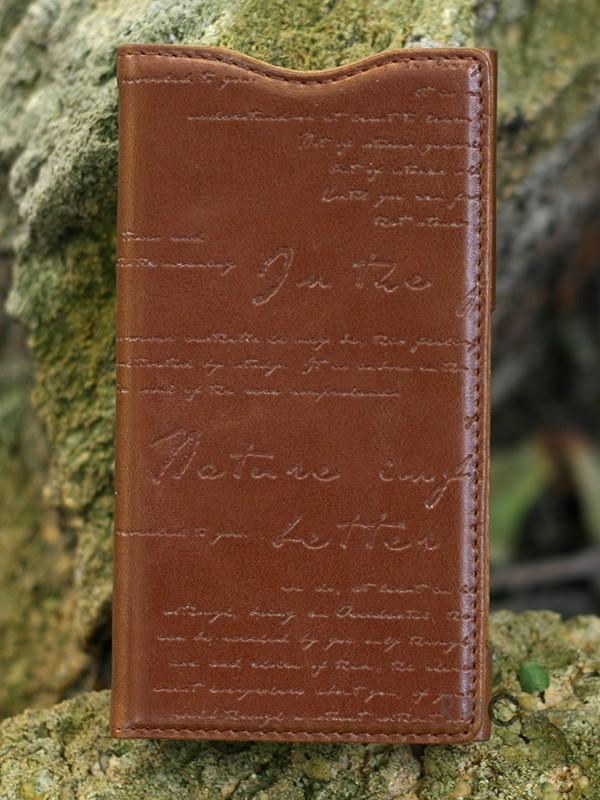 Кожаный чехол Zenus Messtige Lettering Diary для Sony Xperia Z1 compact (Коричневый / Brown)