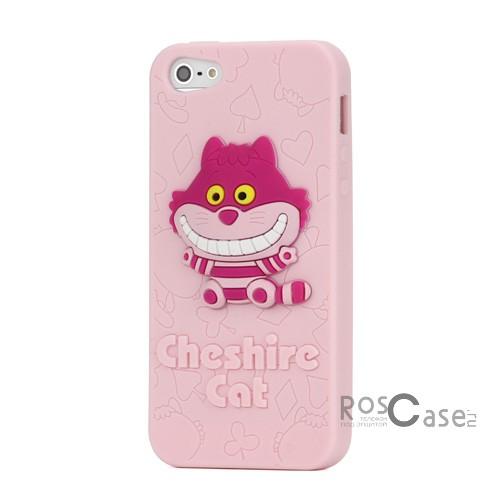 """фото силиконовый чехол """"Чеширский кот"""" для Apple iPhone 5/5S/5SE"""