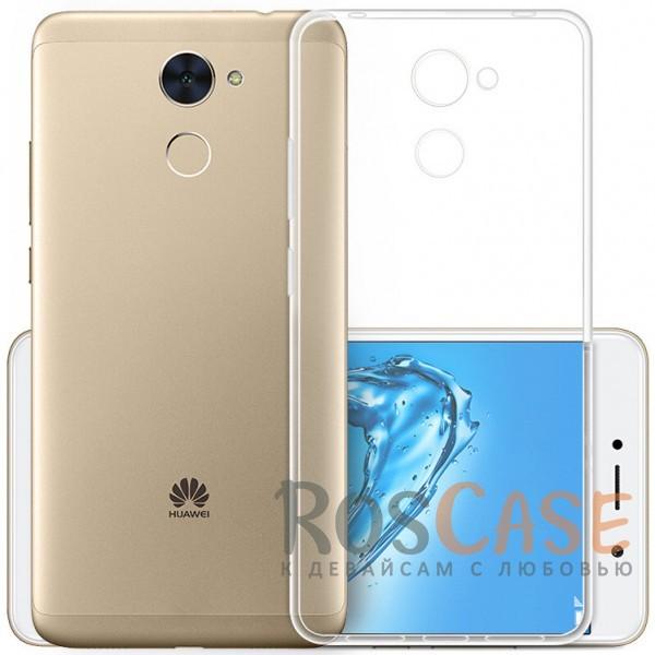 Фотография Бесцветный (прозрачный) Ультратонкий силиконовый чехол для Huawei Y7 Prime