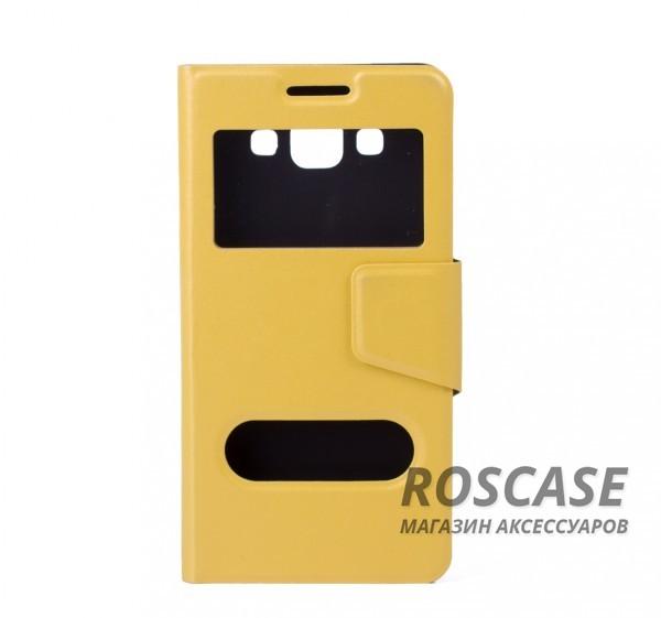 Чехол (книжка) с TPU креплением для Samsung A500H / A500F Galaxy A5 (Желтый)Описание:разработан компанией&amp;nbsp;Epik;спроектирован для Samsung A500H / A500F Galaxy A5;материал: синтетическая кожа;тип: чехол-книжка.&amp;nbsp;Особенности:имеются все функциональные вырезы;магнитная застежка закрывает обложку;защита от ударов и падений;в обложке предусмотрены отверстия;превращается в подставку.<br><br>Тип: Чехол<br>Бренд: Epik<br>Материал: Искусственная кожа