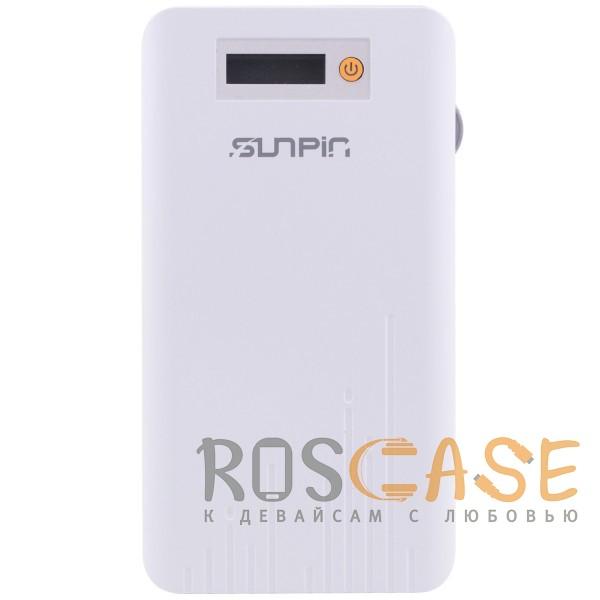 Фото Белый / Оранжевый SunPin D90   Портативное зарядное устройство Power Bank с дисплеем (9000mAh 1USB + встроенный кабель microUSB)