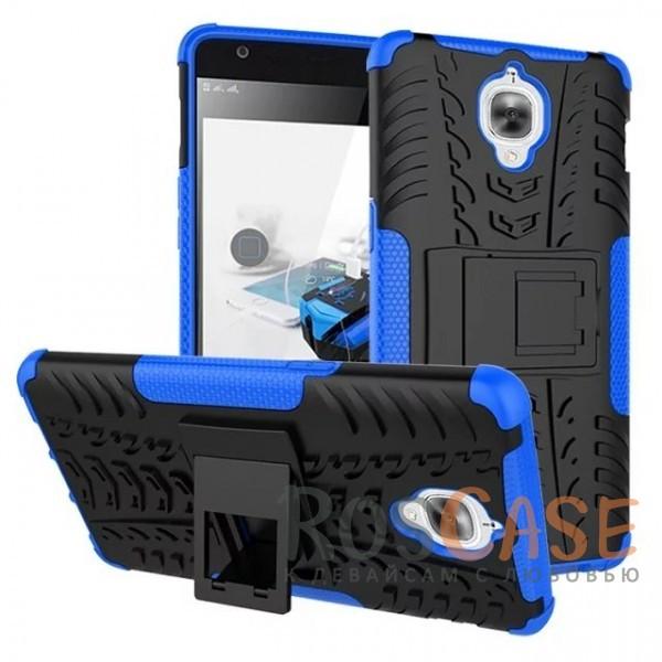 Противоударный двухслойный чехол Shield для OnePlus 3 / OnePlus 3T с подставкой (Синий)Описание:разработан специально для OnePlus 3 / OnePlus 3T;материалы: поликарбонат, термополиуретан;тип: накладка.&amp;nbsp;Особенности:двухслойный;ударопрочный;оригинальный дизайн;стильный дизайн;в наличии все функциональные вырезы;функция подставки.<br><br>Тип: Чехол<br>Бренд: Epik<br>Материал: TPU