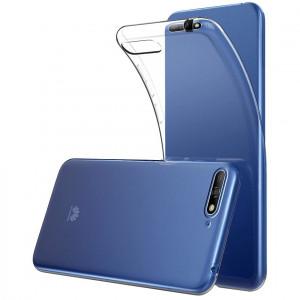 Прозрачный силиконовый чехол для Huawei Y6 (2018)