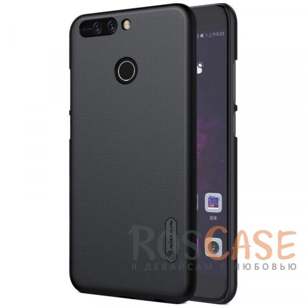 Матовый чехол Nillkin Super Frosted Shield для Huawei Honor 8 Pro / Honor V9 (+ пленка) (Черный)Описание:бренд&amp;nbsp;Nillkin;совместим с Huawei Honor 8 Pro / Honor V9;материал: поликарбонат;рельефная фактура;тип: накладка;в наличии все функциональные вырезы;закрывает заднюю панель и боковые грани;не скользит в руках;защищает от ударов и царапин.<br><br>Тип: Чехол<br>Бренд: Nillkin<br>Материал: Поликарбонат