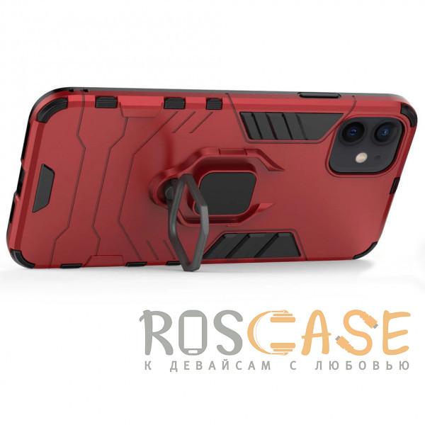 Изображение Красный Transformer Ring | Противоударный чехол под магнитный держатель для iPhone 12 Mini