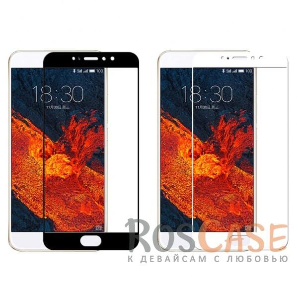 """Фото Защитное стекло с цветной рамкой на весь экран с олеофобным покрытием """"анти-отпечатки"""" для Meizu Pro 6 Plus"""