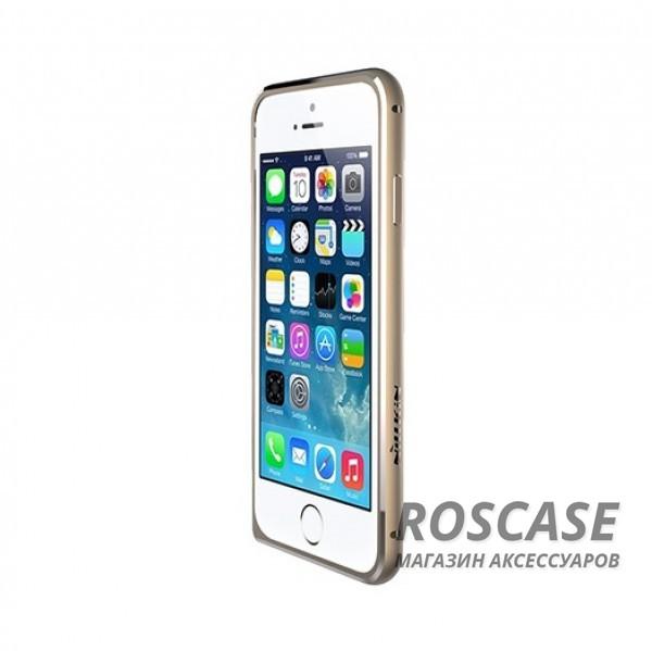 Металлический бампер Nillkin Gothic Series для Apple iPhone 6/6s (4.7) (Золотой)Описание:производитель  -  бренд Nillkin;совместимость: Apple iPhone 6/6s (4.7);материал  -  металл;форма  -  бампер.&amp;nbsp;Особенности:легкий и прочный;имеет все функциональные вырезы;обладает хорошей амортизацией;не увеличивает габариты;стильныйгладкий.<br><br>Тип: Бампер<br>Бренд: Nillkin