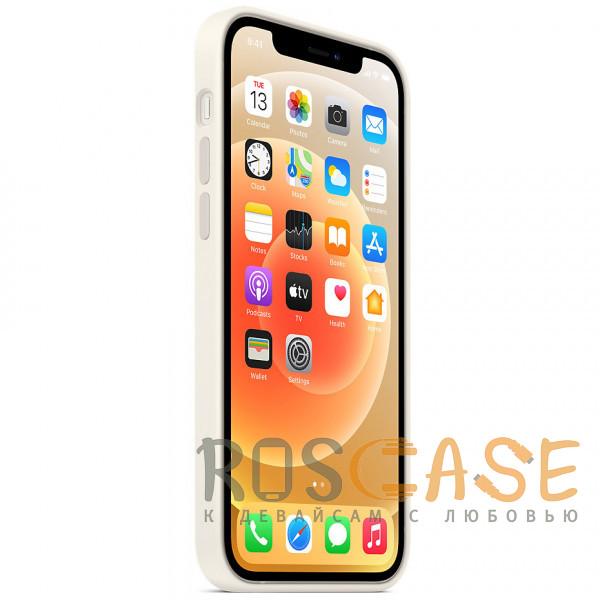 Изображение Белый Силиконовый чехол Silicone Case с микрофиброй для iPhone 12 Pro Max
