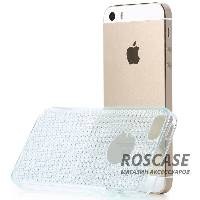 фото Голубой / Transparent blue TPU чехол Rock Fla Series для Apple iPhone 5/5S/SE