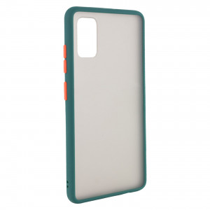 Противоударный матовый полупрозрачный чехол  для Samsung Galaxy A41