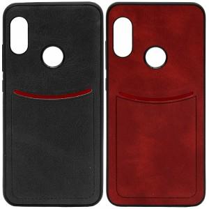 ILEVEL | Чехол с кожаным покрытием и с карманом-визитницей  для Xiaomi Redmi 6 Pro