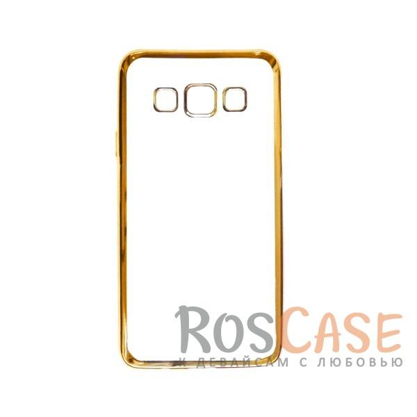 Прозрачный силиконовый чехол для Samsung A300H / A300F Galaxy A3 с глянцевой окантовкой (Золотой)Описание:подходит для Samsung A300H / A300F Galaxy A3;материал - силикон;тип - накладка.Особенности:глянцевая окантовка;прозрачный центр;гибкий;все вырезы в наличии;не скользит в руках;ультратонкий.<br><br>Тип: Чехол<br>Бренд: Epik<br>Материал: Силикон