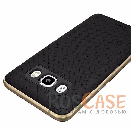 Двухкомпонентный чехол iPaky (original) Hybrid со вставкой цвета металлик для Samsung J510F Galaxy J5 (2016) (Черный / Золотой)Описание:производитель - iPaky;разработан для Samsung J510F Galaxy J5 (2016);материал: термополиуретан, поликарбонат;форма: накладка на заднюю панель.Особенности:эластичный;рельефная поверхность;прочная окантовка;ультратонкий;надежная фиксация.<br><br>Тип: Чехол<br>Бренд: iPaky<br>Материал: TPU