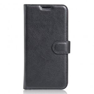Гладкий кожаный чехол-бумажник на магнитной застежке с функцией подставки и внутренними карманами для Lenovo P2 / Vibe P2