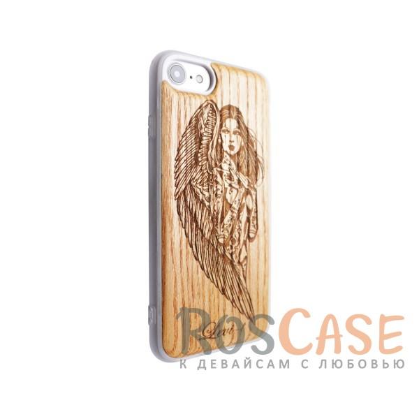 """Фото Ангел Buddy   Чехол с деревянной вставкой ручной работы для Apple iPhone 7 / 8 (4.7"""")"""