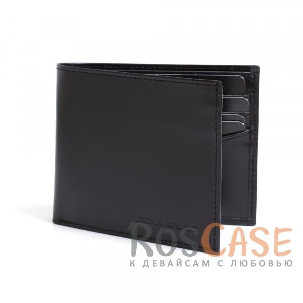 Фотография Мужской кошелек из натуральной кожи с откидным отделением для водительских прав