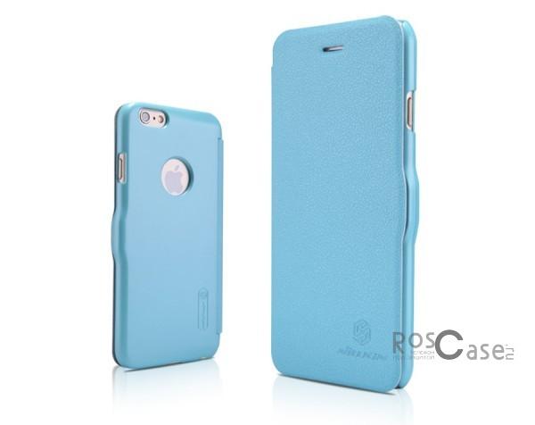 Кожаный чехол (книжка) Nillkin Fresh Series для Apple iPhone 6/6s (4.7)  (Голубой)Описание:Изготовлен компанией&amp;nbsp;Nillkin;Спроектирован персонально для Apple iPhone 6/6s (4.7);Материал: синтетическая высококачественная кожа и полиуретан;Форма: чехол в виде книжки.Особенности:Исключается появление царапин и возникновение потертостей;Восхитительная амортизация при любом ударе;Фактурная поверхность;Магнитная застежка;Не подвержен деформации;Непритязателен в уходе.<br><br>Тип: Чехол<br>Бренд: Nillkin<br>Материал: Искусственная кожа