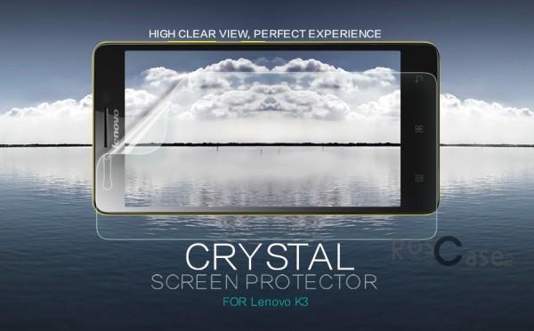 Защитная пленка Nillkin Crystal для Lenovo A6000/A6010/A6000+/A6010+/K3/A6010 Pro (Анти-отпечатки)Описание:компания-производитель:&amp;nbsp;Nillkin;разработана специально для Lenovo A6000/A6010/A6000+/A6010+/K3/A6010 Pro;материал: полимер;тип: защитная пленка.&amp;nbsp;Особенности:прозрачная;олеофобное покрытие (анти-отпечатки);не влияет на чувствительность сенсора;придает изображению четкость и яркость;не желтеет.<br><br>Тип: Защитная пленка<br>Бренд: Nillkin