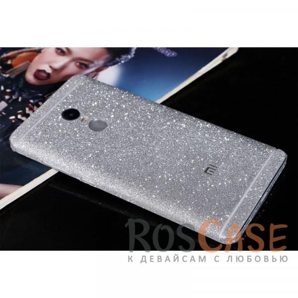 Виниловая наклейка на обе стороны Glitter series для Xiaomi Redmi Note 4 (MTK) (Серебряный)<br><br>Тип: Чехол<br>Бренд: Noreve<br>Материал: Натуральная кожа