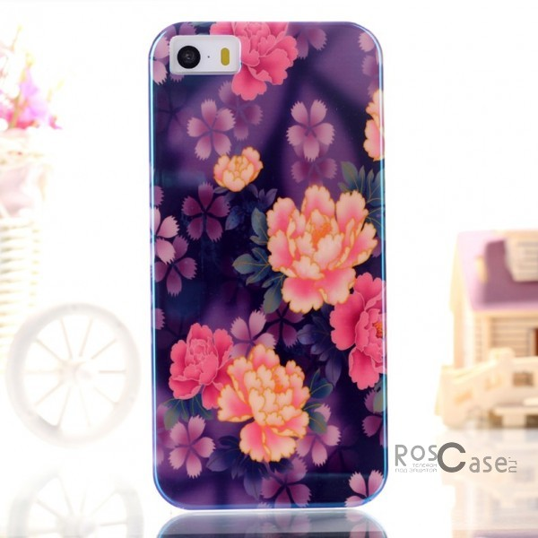 "фото TPU чехол IMD Print ""Fresh Flowers"" для Apple iPhone 5/5S/5SE"