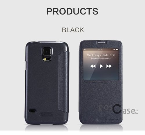 Кожаный чехол (книжка) Nillkin Sparkle Series для Samsung G900 Galaxy S5 (Черный)Описание:Изготовлен компанией Nillkin;Спроектирован персонально для Samsung G900 Galaxy S5;Материал: синтетическая высококачественная кожа и полиуретан;Форма: чехол в виде книжки.Особенности:Исключается появление царапин и возникновение потертостей;Восхитительная амортизация при любом ударе;Фактурная поверхность;Элегантное интерактивное окошко;Не подвержен деформации;Непритязателен в уходе.<br><br>Тип: Чехол<br>Бренд: Nillkin<br>Материал: Искусственная кожа