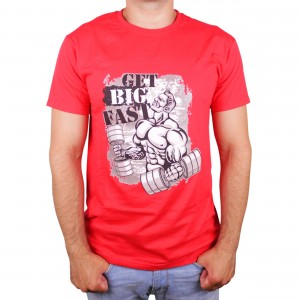 "Muscle Rabbit | Мужская футболка с принтом качка ""Get big fast"""